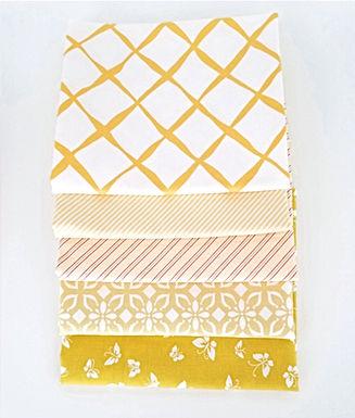 Moda Fat Quarter Yellow Blender Bundle (five pieces)