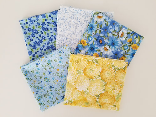 "Moda Fabrics ""Summer Breeze IV"" Fat Quarter Bundle (5 pieces)"