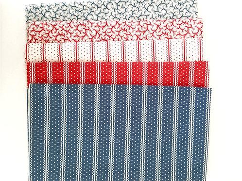 "Moda Fabrics ""Portsmouth"" Half-Yard Bundle (five pieces)"
