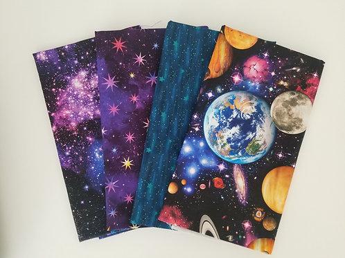 Curated Space Celestial Half-Yard Bundle (4 pieces)