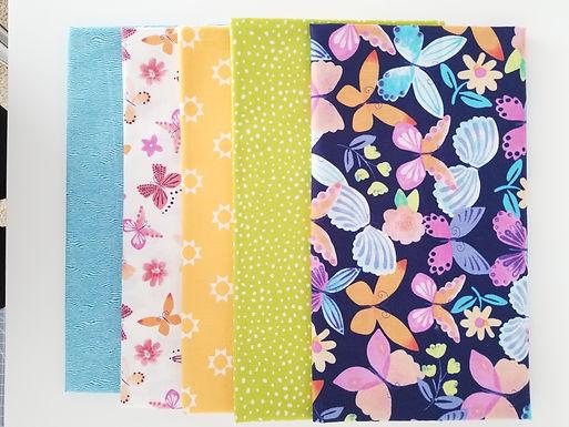 Butterflies Half-Yard Bundle (five pieces)