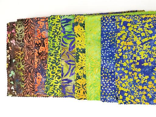 "Batiks 10"" Square Pack - Assorted"