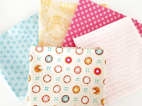 Doughnuts and Croissants Fat Quarter Bundle (five pieces)