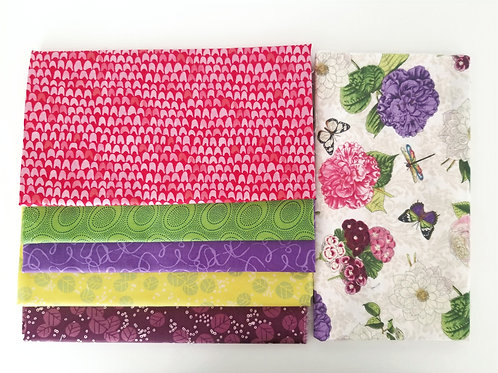 Floral and Butterfly Half-Yard Bundle (six pieces)
