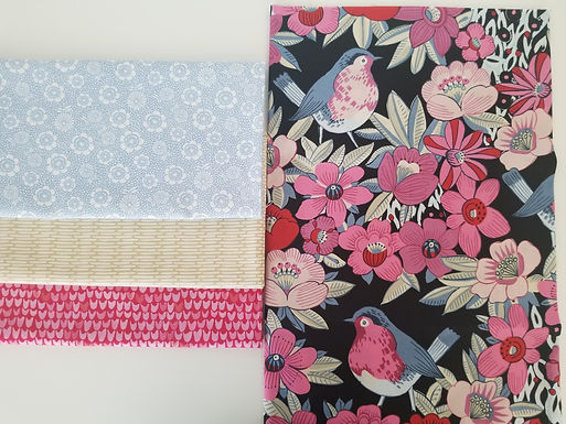 Bird and Floral Half-Yard Bundle (four pieces)