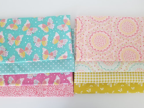 Butterflies and Floral Half-Yard Bundle (eight pieces)