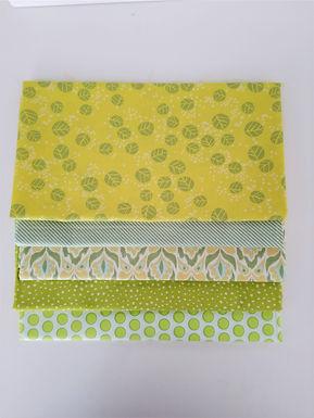 Moda Half-Yard Green Blender Bundle (five pieces)
