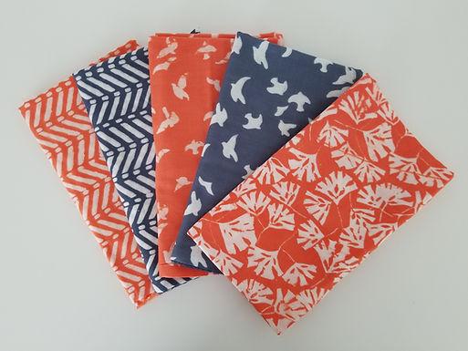 "Moda Fabrics Batiks ""Whispers"" Double Gauze Half-Yard Bundle (5 pieces)"