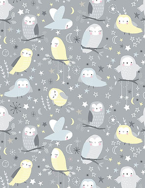 "Timeless Treasures ""Whimsical Owls"""