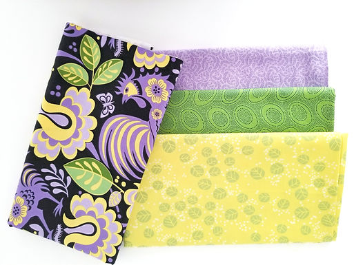 Black and Purple Rooster Yard Bundle (four pieces)