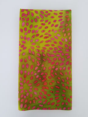 Quilter's Green and Magenta Batik Fabric by the Yard