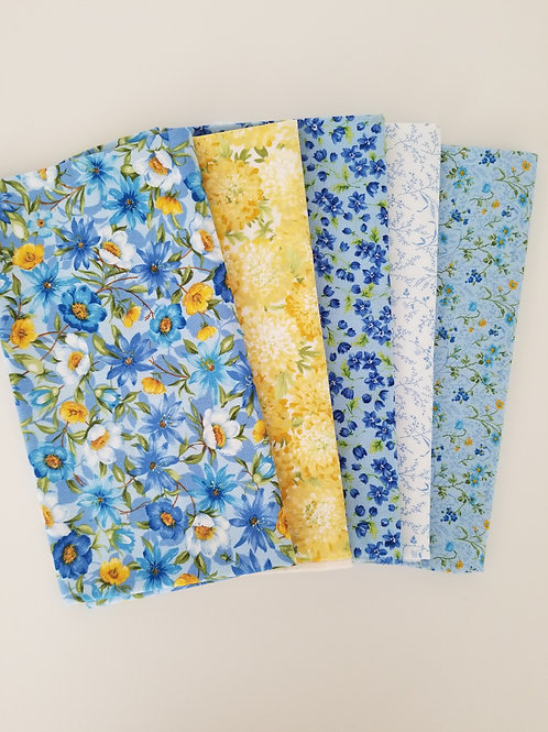 "Moda Fabrics ""Summer Breeze IV"" Half-Yard Bundle (5 pieces)"