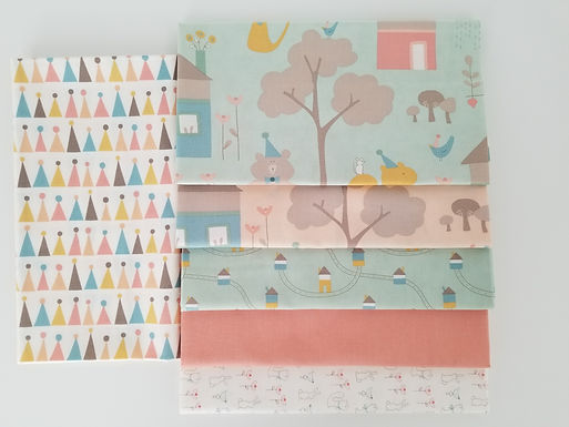 "Moda Fabrics ""Corner of 5th and Fun"" Half-Yard Bundle (6 pieces)"