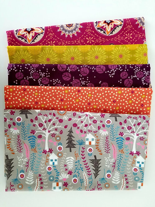 Timeless Treasures, Art Gallery, Moda Half-Yard Bundle (5 pieces)