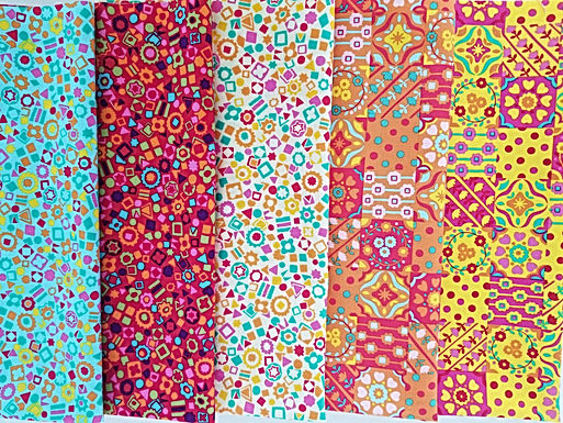 "Benartex ""Summer Garden"" Fat Quarter Bundle (five pieces)"