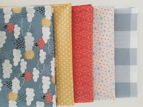 Birds and Umbrellas Yard Bundle (five pieces)
