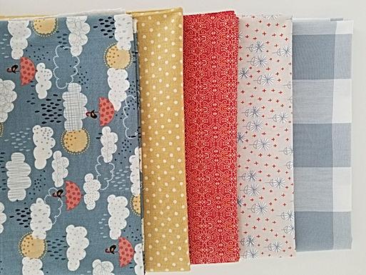 Birds and Umbrellas Yard Bundle (five pieces)