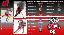 Official Announcement: Badgers Release 2020-2021 Club Hockey Schedule