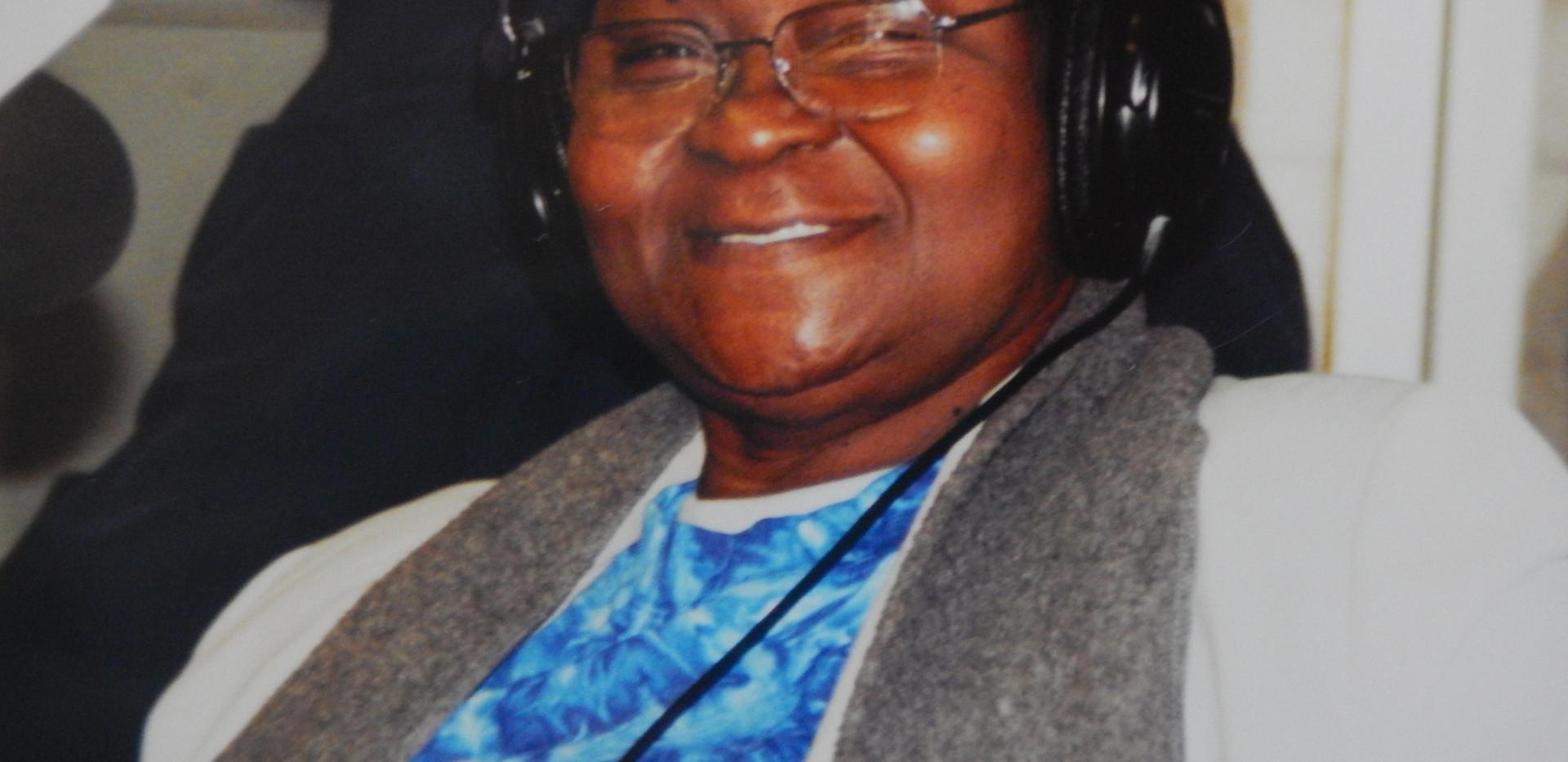 The reigning Calypson Queen of Tobago Calypso Rose at KKUP radio Santa Clara