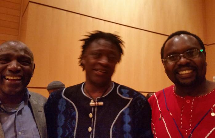 Nado, Habib Koite and Edwin Okongo at Sonoma state, California