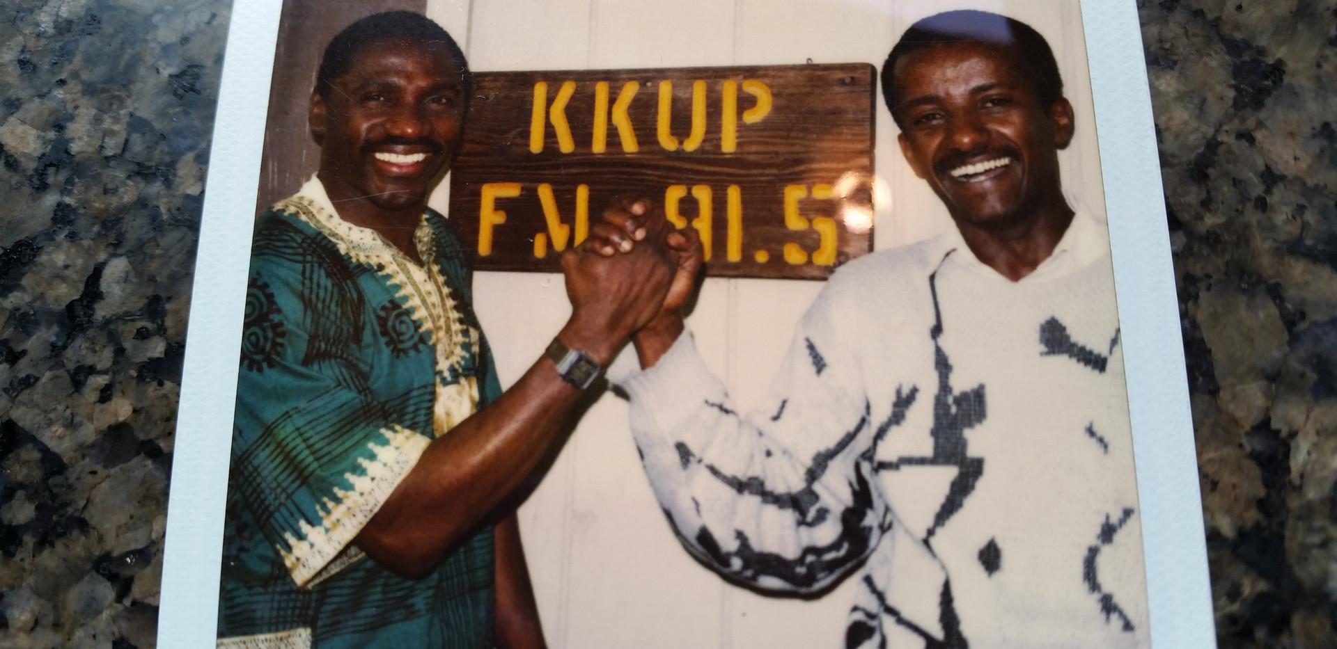 Early broadcasting years at KKUP radio Cupertino California with Israel Mergessa