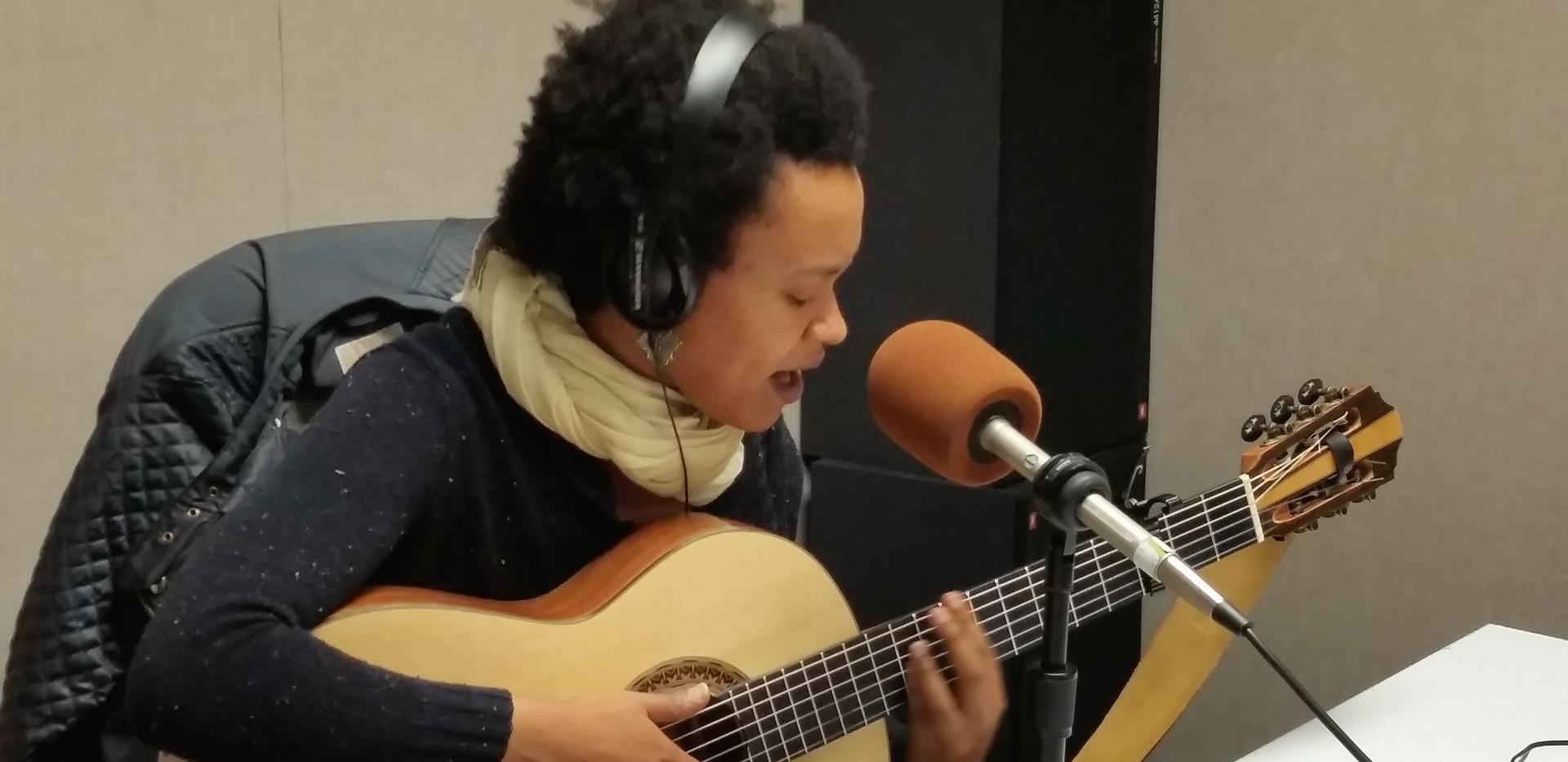 Ethio/American singer, songwriter TED Fellow Meklit performing at KALW Africamix