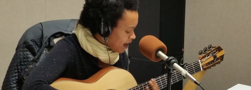 Ethio/American singer, songwriter TED Fellow Meklit performing at KALW Africamix