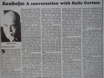 Haile Gerima(Ethiopian Filmmaker)