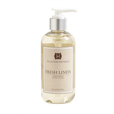 Fresh Linen scented hand soap in an 8.25 oz dispenser