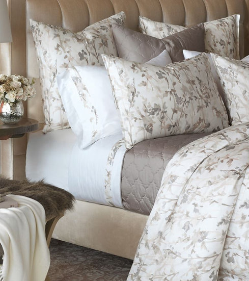 Aubergine Home Collection Philomena luxury duvet cover set and pillow shams