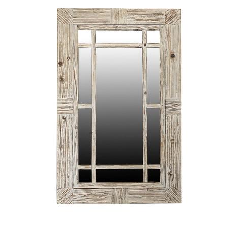 Serene Window Pane Wall Mirror