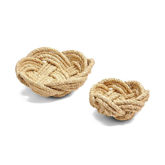 Decorative rope bowls for storage or organizing