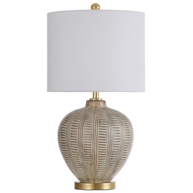 Baffo Gold Carved Table Lamp