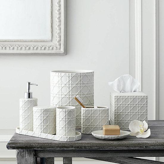 Aubergine Home Collection bathroom decor store Rattan bathroom accessories by Kassatex