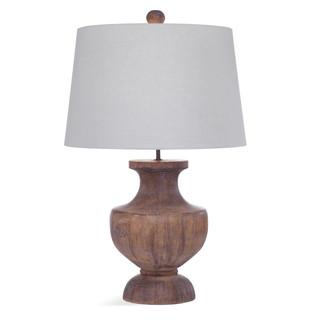 Stella Weathered Brown Wood Lamp