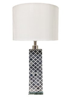 Robyn Black & White Bone Inlay Table Lamp