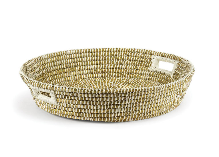 Rivergrass Low Bowl with Handles