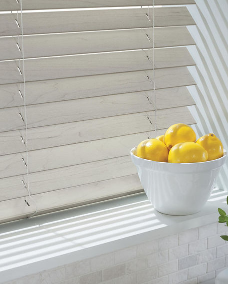Hunter Douglas Everwood alternative wood horizontal blinds with cord