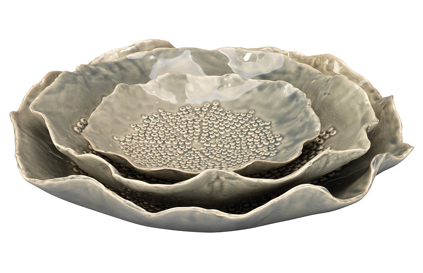 Tidepool Decorative Ceramic Bowls