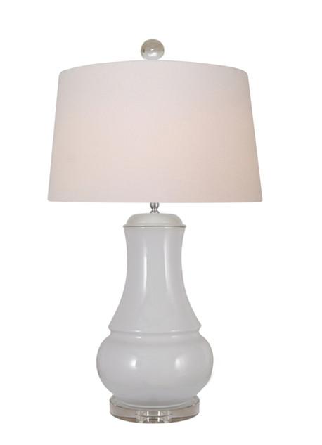 Dove Grey Ceramic Table Lamp