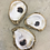Gold-painted natural oyster ring holder dish
