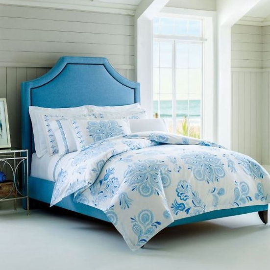 Blue paisley luxury bedding collection
