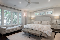 Master bedroom decorated in neutral tones for an elegant coastal style retreat