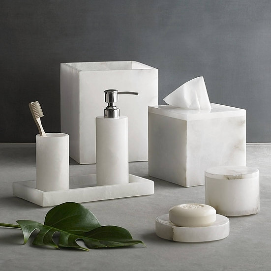Aubergine Home Collection bathroom decor store Alabaster bathroom accessories by Kassatex