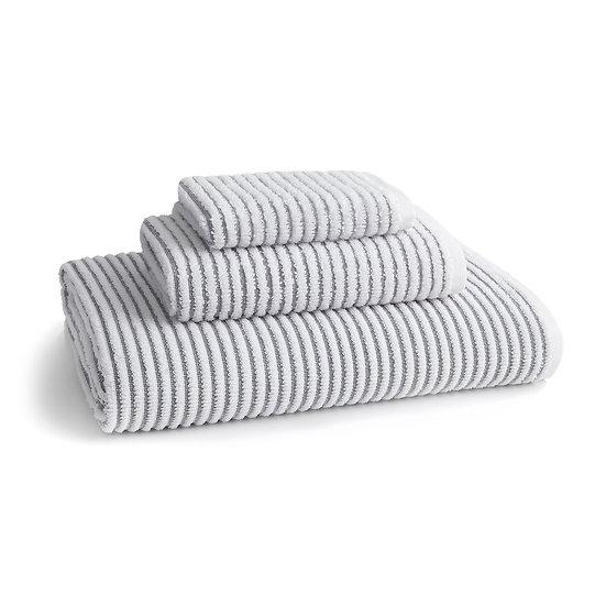 Grey Sullivan Ribbed Textured Towels