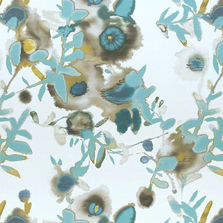 Thibaut Open Spaces Watercolor Floral - Teal