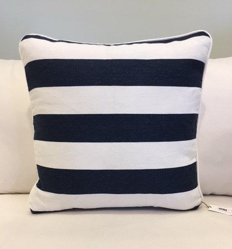 20x20 Navy and White Stripe