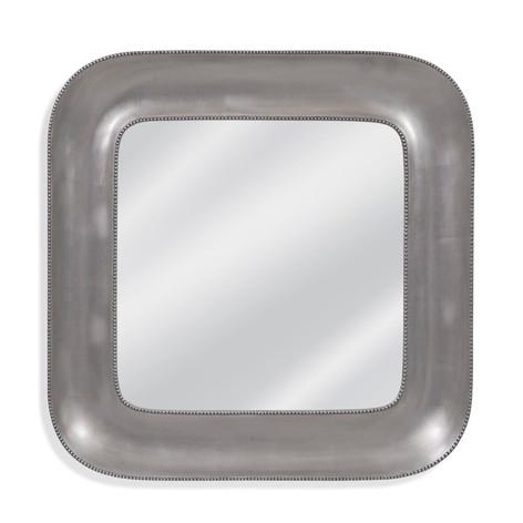 Lillian Silver Beaded Wall Mirror