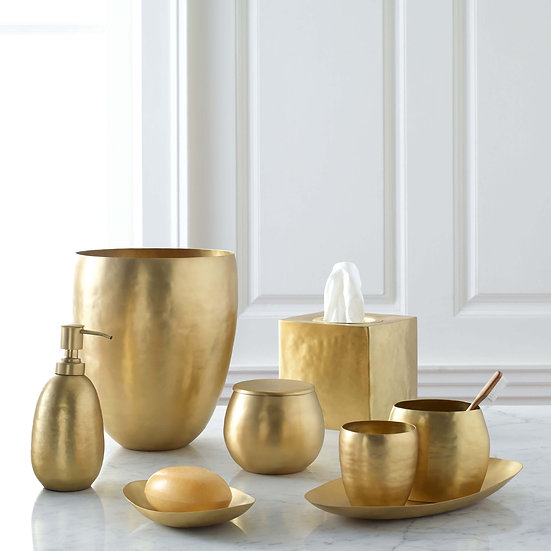 Nile gold bathroom accessories set comes in 8 pieces