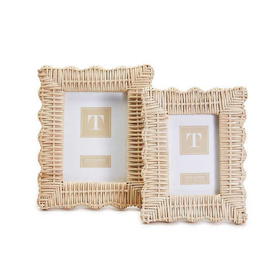 Natural wicker weave picture frames in 4x6 and 5x7